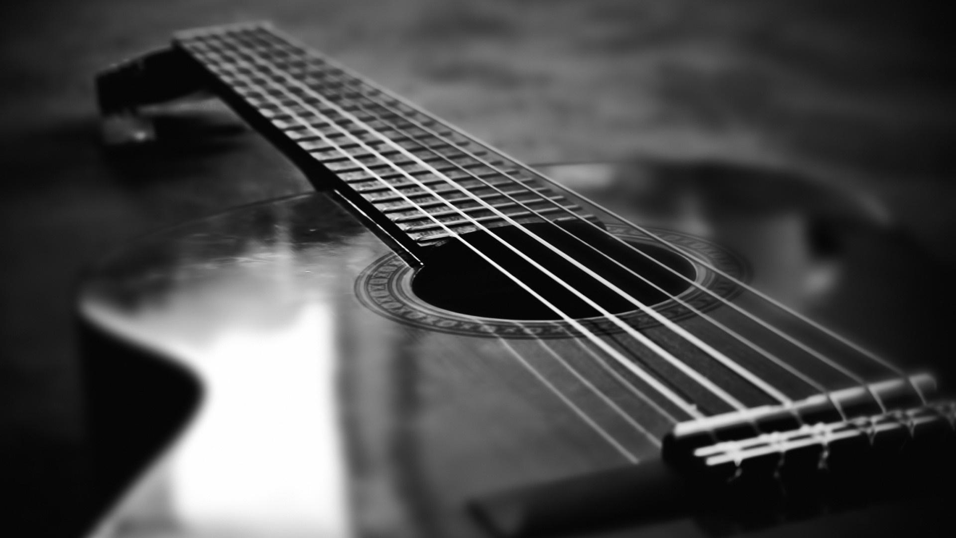 bw classical guitar